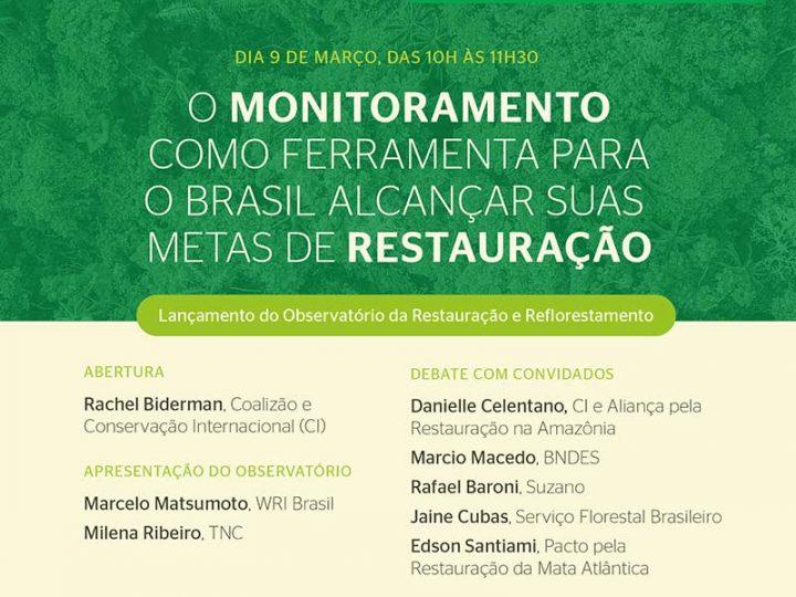 Lançado o Observatório da Restauração e Reflorestamento com participação da Aliança