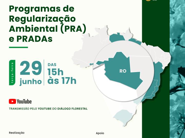 Implementação do PRA e PRADAs em Rondônia é tema de webinar co-organizado pela Aliança